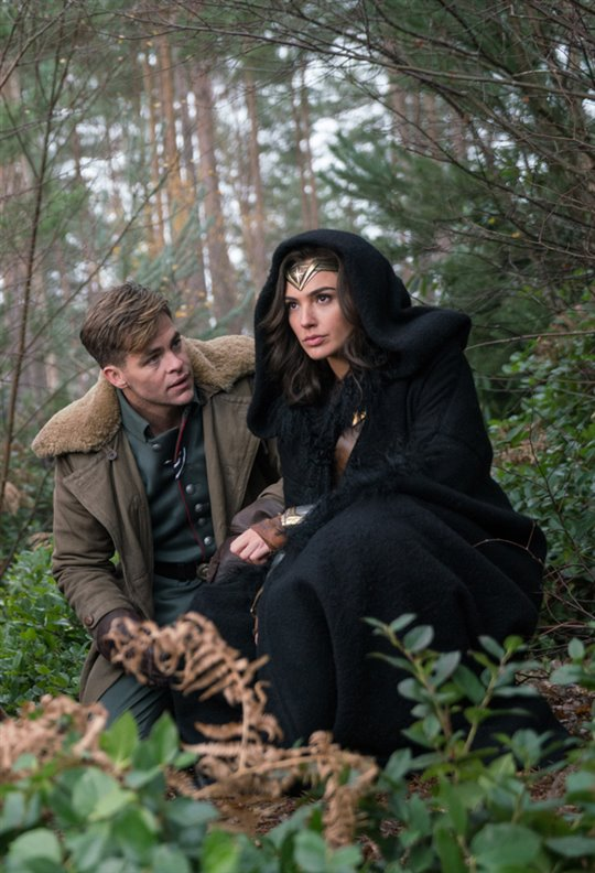 Gal Gadot and Chris Pine in Wonder Woman.