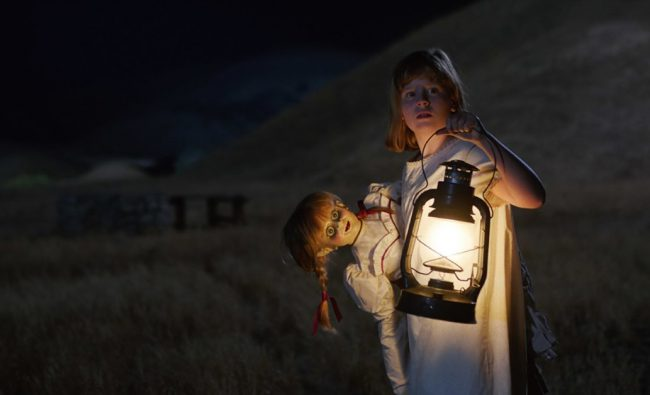 This list wouldn't be complete without the creepily possessed Annabelle doll from Annabelle: Creation (2017). This paranormal plaything is evidence, once again, that toys, children and ghosts just don't mix! And when they do, God help us…