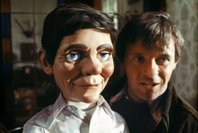 Magic (1978) depicts a man, Corky (Anthony Hopkins), who's fallen under the control of his crazy and maniacal ventriloquist dummy named Fats. Nothing is worse than being at the mercy of something sinister, especially when it threatens the lives of those you love.