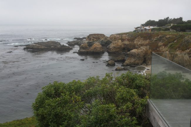 Although the rest of the characters' homes in Big Little Lies were shot in Malibu, the Wrights' gorgeous house was filmed in Carmel Highlands. This is a view of one of the properties we visited that resembled the Wrights' residence.