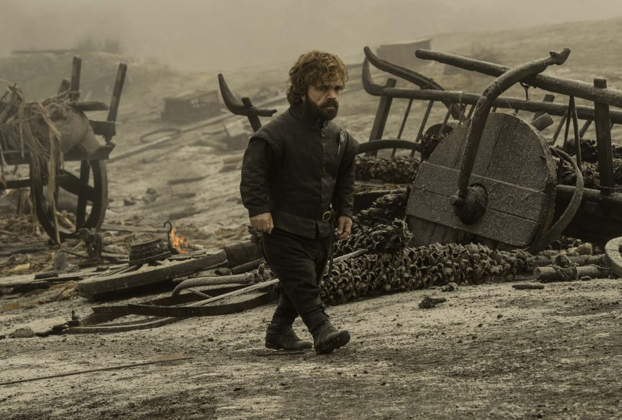 Tyrion witnessing the aftermath of dragon fire