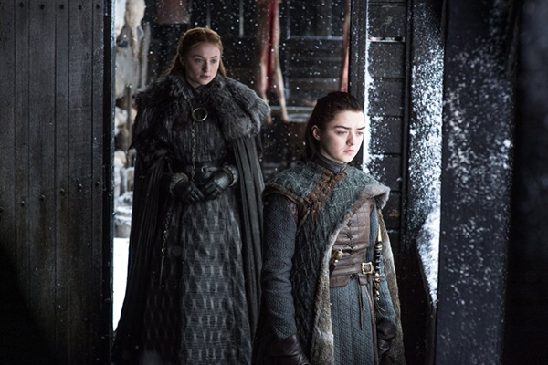 Sansa and Arya discuss the past