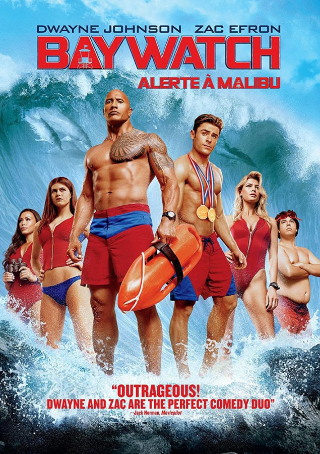 Baywatch DVD starring Dwayne Johnson