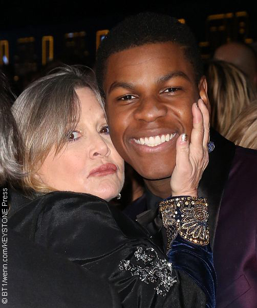 Carrie Fisher and John Boyega