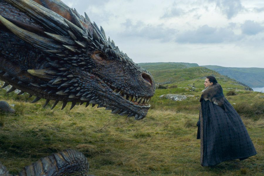 Drogon takes a liking to Jon Snow