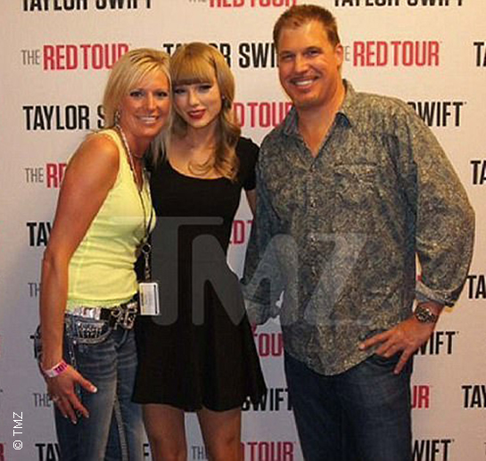Taylor Swift with David Mueller.