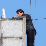 Tom Cruise performing stunt for Mission: Impossible 6.