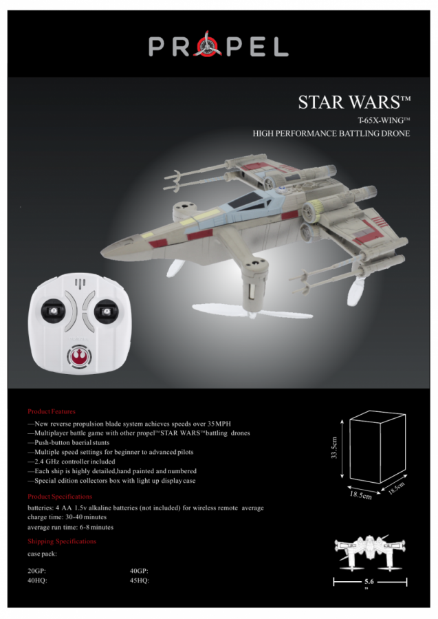 T-65 X-wing Starfighter info