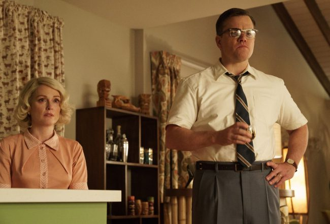 Family man Gardner Lodge (Matt Damon) lives in the quiet town of Suburbicon. Two things upset the balance of the idyllic neighborhood — a break-in at his home and the bigotry of his neighbors when a black family moves in. Release Date: October 27