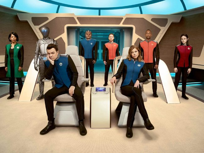 The crew of the barely functional spaceship from Earth explores outer space 400 years in the future. Created by and starring Seth MacFarlane, along with Adrianne Palicki, Scott Grimes and Victor Garber. Premiere Date: September 10