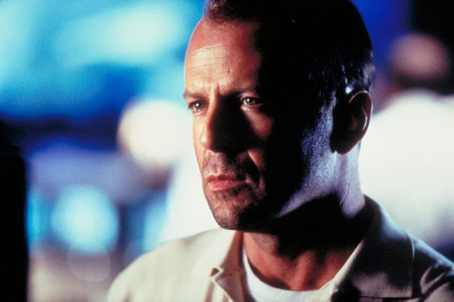 Bruce Willis's characters have died many deaths on-screen, including one in which he became a ghost in The Sixth Sense (1999). But perhaps one of the most noble and tear-jerking was his self-sacrificing meeting with the Grim Reaper atop an exploding asteroid in 1998's Armageddon.