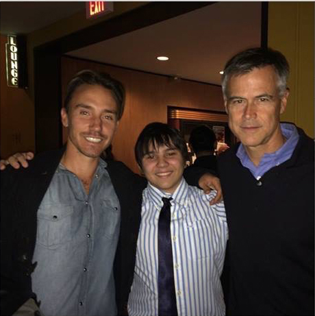 Rob Stewart, Jonah Bryson and Jim Toomey at Blue Film Festival