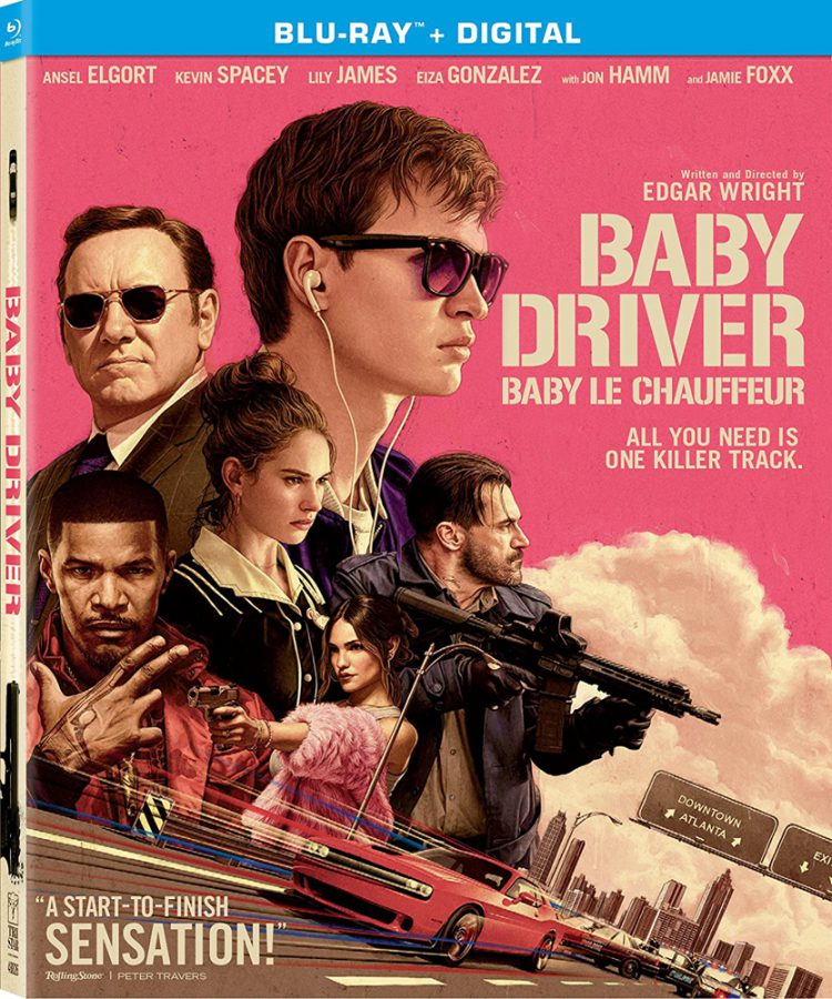 Baby Driver on Blu-ray starring Ansel Elgort