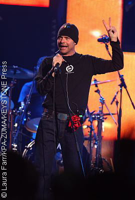 Gord Downie performing with The Tragically Hip