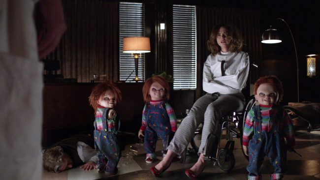 An innocent child's toy is a thing of nightmares in Cult of Chucky (2017). Chucky (voice of Brad Dourif) is pitted once again against Nica Pierce (Fiona Dourif), who realizes the murderous doll is not a fiction of her imagination, but rather is responsible for the death of her family. The two square off in […]