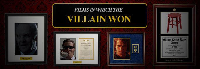 Nothing is more disheartening than an unhappy ending — and seeing the bad guy or girl free to terrorize once more is downright scary. So put away your rainbows and lollipops and get ready for a harsh reality check with our list of films in which the villain won. (And SPOILER ALERT, obviously.) ~Alexa Caruso