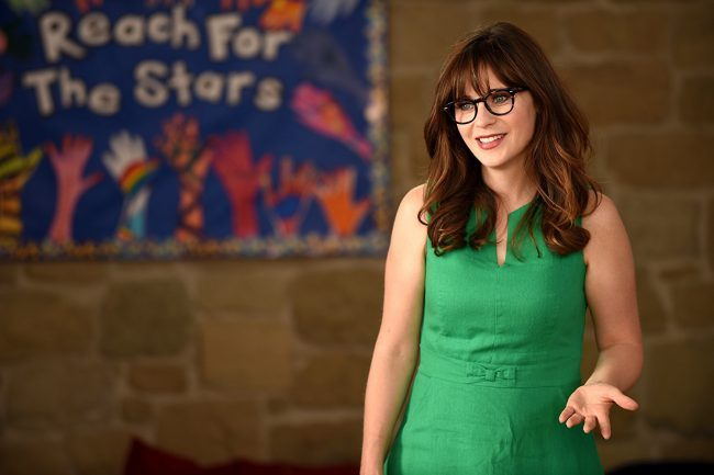Zooey Deschanel is the picture of nerdy and cute. Her quirky appeal and fun personality are front and center on her show New Girl, on which she plays Jess Day, a character that seems close to her real personality. We're sure going to miss her when the show finishes airing its final season!