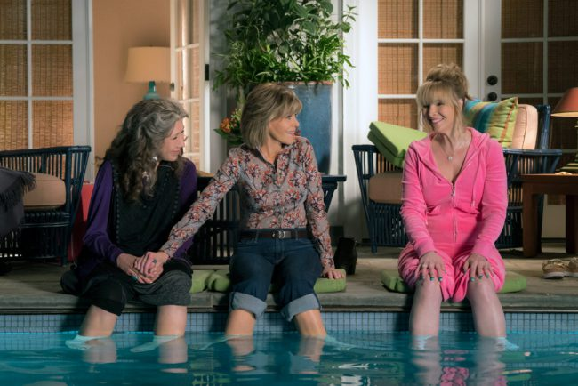 In the fourth season of the popular series, difficulties arise when third wheel Sheree (Lisa Kudrow) enters the lives of Grace (Jane Fonda) and Frankie (Lily Tomlin).