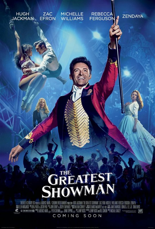 The Greatest Showman is now playing and more!