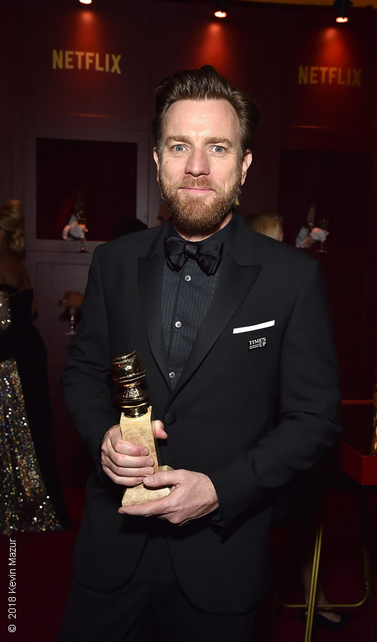 Ewan McGregor at the 75th Golden Globes awards