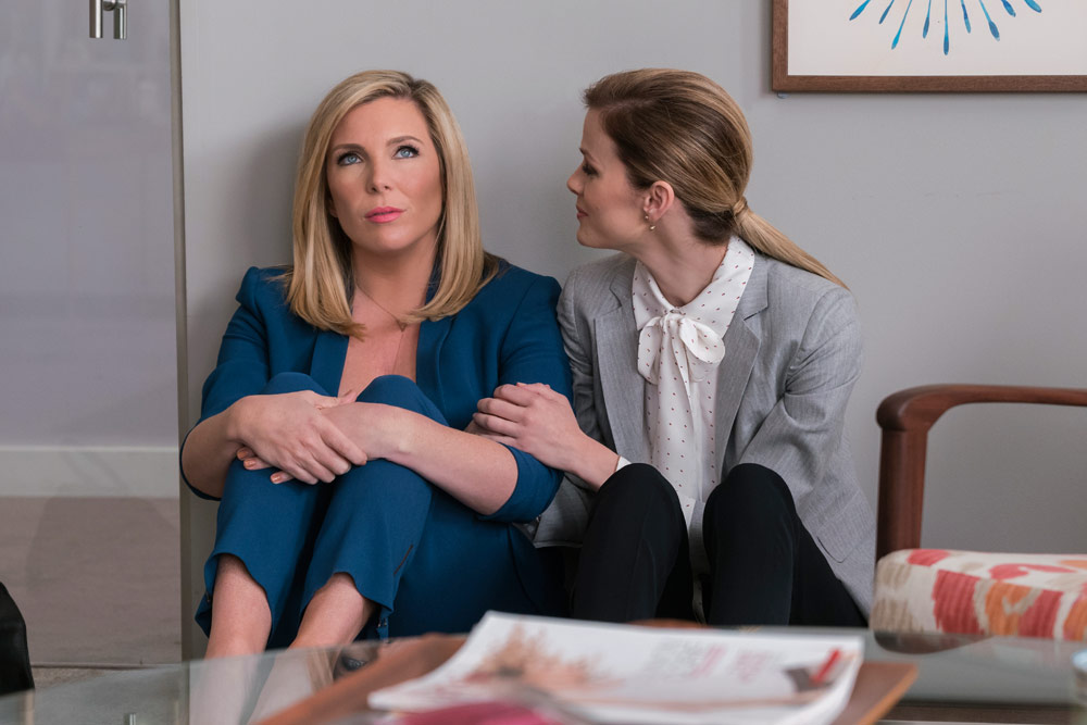 June Diane Raphael and Brooklyn Decker in Grace and Frankie