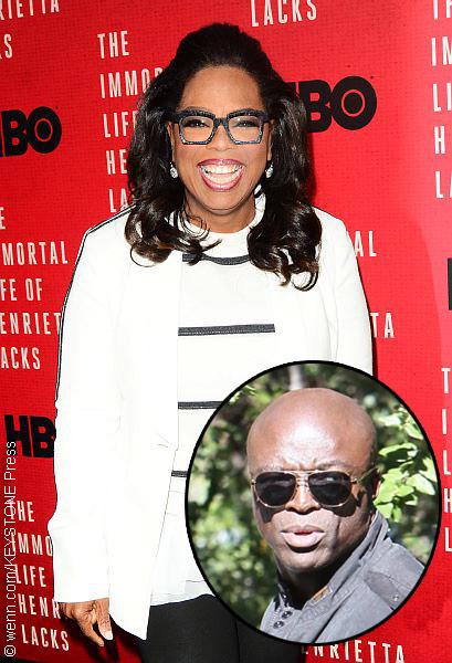Oprah Winfrey with Seal (inset)