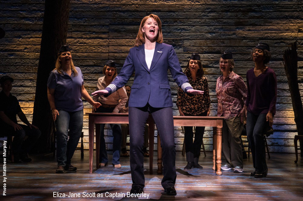 Eliza-Jane Scott belts out her solo in Come From Away