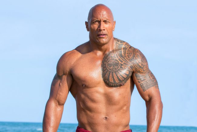 A former pro football player and wrestler, Dwayne Johnson made the move to being a film star like it was a piece of cake. He's a fan favorite, showing off not only his abs and pecs but his comedic skills in movies such as Baywatch and the box office megahit, Jumanji: Welcome to the Jungle.