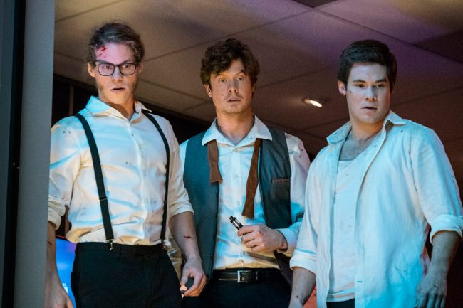 During a star-studded Los Angeles party, three waiters — Alexxx (Adam Devine), Darren (Anders Holm) and Joel (Blake Anderson) — spring into action when bad guys invade the swanky hotel, taking celebrities hostage, including international pop star Shaggy.