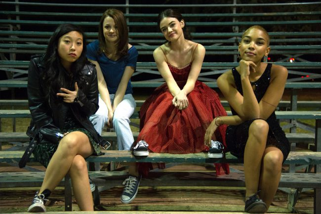 Four best girlfriends (Lucy Hale, Kathryn Prescott, Alexandra Shipp, Awkwafina) in their senior year of high school try to come to terms with loss, nostalgia and major life changes during the last two weeks of school in this coming-of-age comedy. Also starring Alex Wolff.