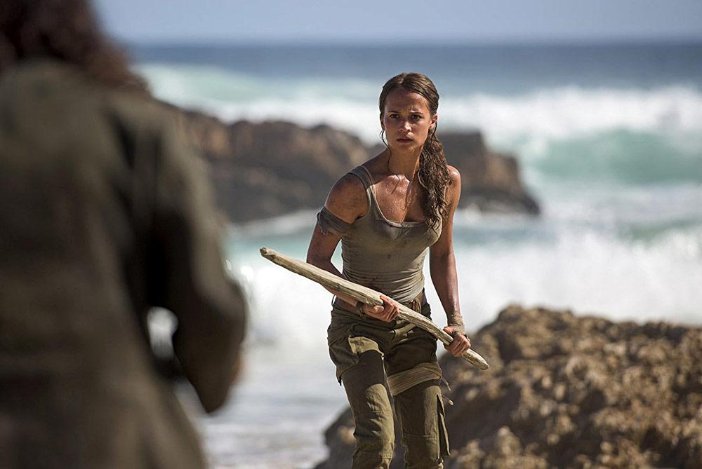 Scene from Tomb Raider starring Alicia Vikander