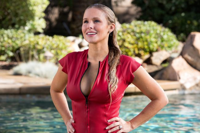 This blonde beauty is known for lead roles in movies like When in Rome and Forgetting Sarah Marshall. Shown here in the comedy CHIPS, Kristen Bell has a talent for quickly turning up the heat, and can go from playful to pouty and provoking.
