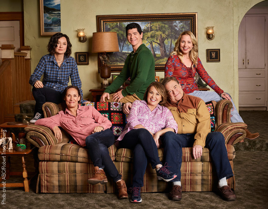 The cast of the new show Roseanne
