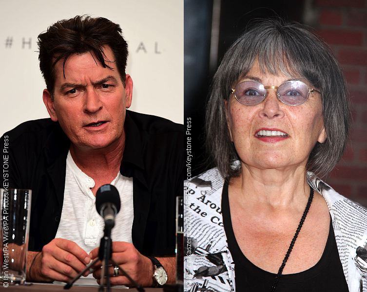Charlie Sheen and Roseanne Barr