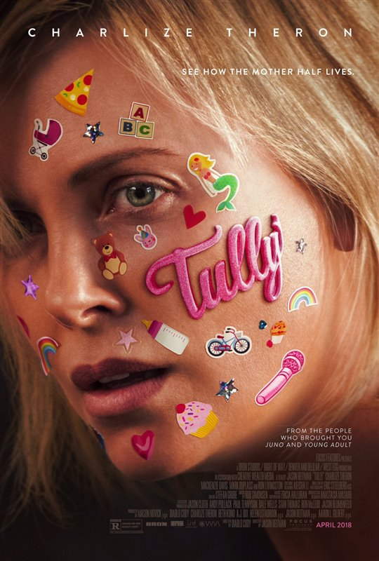 Charlize Theron in Tully poster