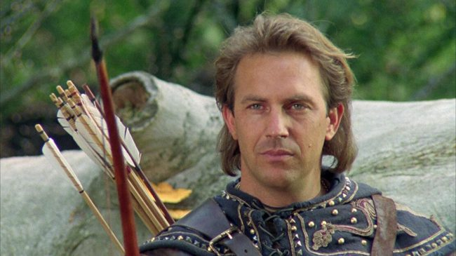 In the title role of Robin Hood, Kevin Costner refused to pretend he had an English accent and also donned long blond hair, coming off more as a Californian surfer dude than England's most beloved thief.