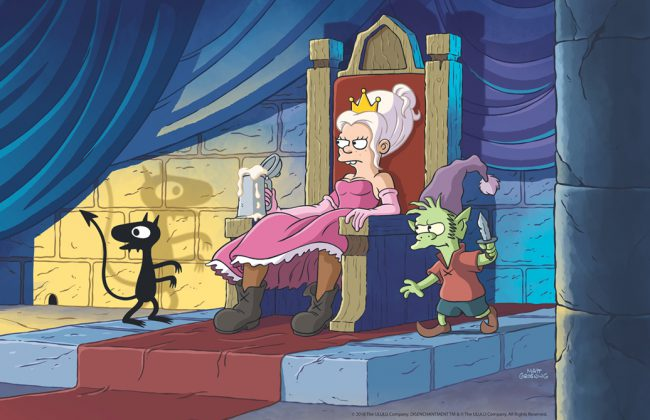 Matt Groening created this 10-episode adult animated comedy fantasy series that takes place in the crumbling medieval kingdom of Dreamland. There, the audience will follow the misadventures of the oddball trio of hard-drinking young princess Bean, her feisty elf companion Elfo, and her personal demon, Luci.