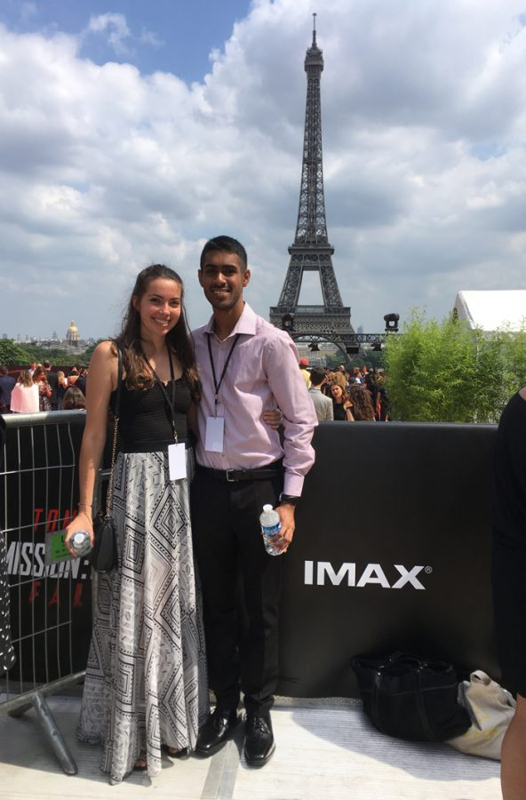 Daniel Pokhoy and Claire Mireille Murray in Paris
