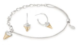 Alex and Ani Shark Tooth bracelet and earrings