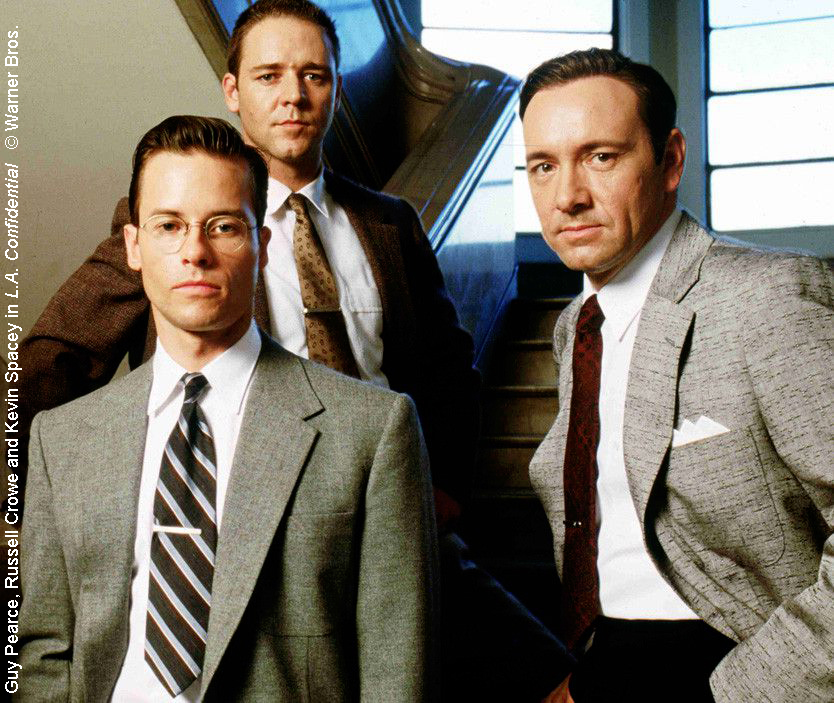 L.A. Confidential starred Guy Pearce, Russel Crowe and Kevin Spacey