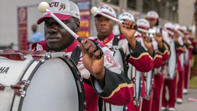 This 12-part series follows the Bethune-Cookman University's marching band, which is regarded as the nation's best, as they fight to keep their spots on the field, memorize routines, balance their academic careers, and maintain their social lives.