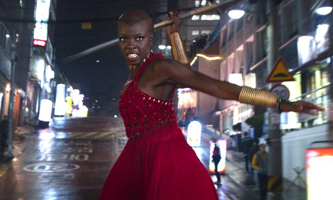Danai Gurira clearly stood out in Black Panther. She played Okoye, one of the fiercest warriors in all of Wakanda. She had some of the best fight scenes and sure proved how badass she can be. There's no danai-ing that!