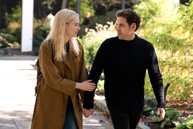 Annie (Emma Stone) and Owen (Jonah Hill) are two strangers taking part in a mysterious pharmaceutical trial in this limited series. Annie is disaffected and aimless, while Owen struggles with a disputed diagnosis of schizophrenia. Dr. James K. Mantleray (Justin Theroux) has invented a new, radical drug treatment that he claims can repair anything about […]