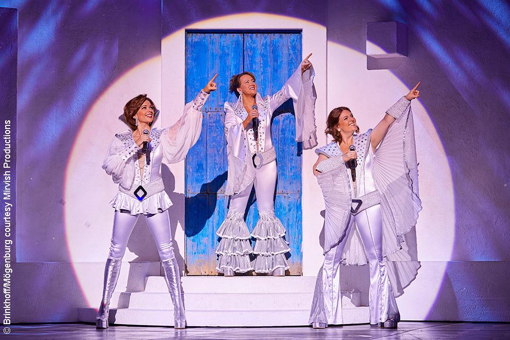 Donna and friends in Mamma Mia!