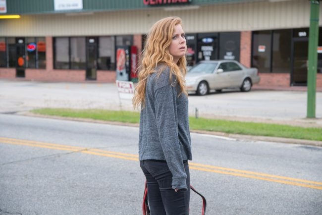 Amy Adams is filmed walking around town. These scenes were shot on select streets in Barnesville.