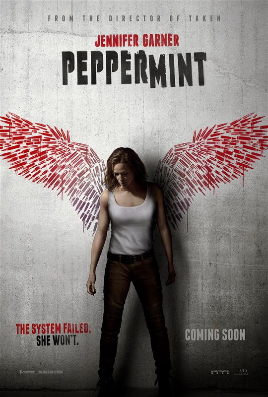Peppermint poster starring Jennifer Garner