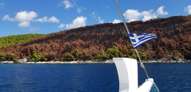 Another stunning shot of the islands simply reminded us why the cast and crew fell in love with the Greek Island of Skopelos.