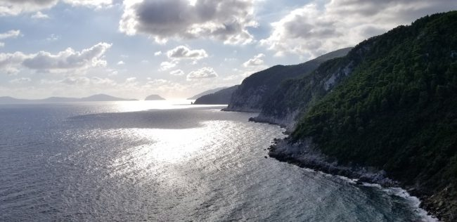 Here's a view from the top, which provides a breathtakingly gorgeous view of Skopelos and Alonissos.