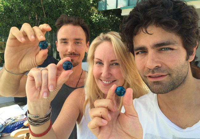 Rob with environmental activist Shari Sant Plummer and actor/environmentalist Adrian Grenier, supporting The Blue Marbles Project to remind the world that #WaterIsLife.