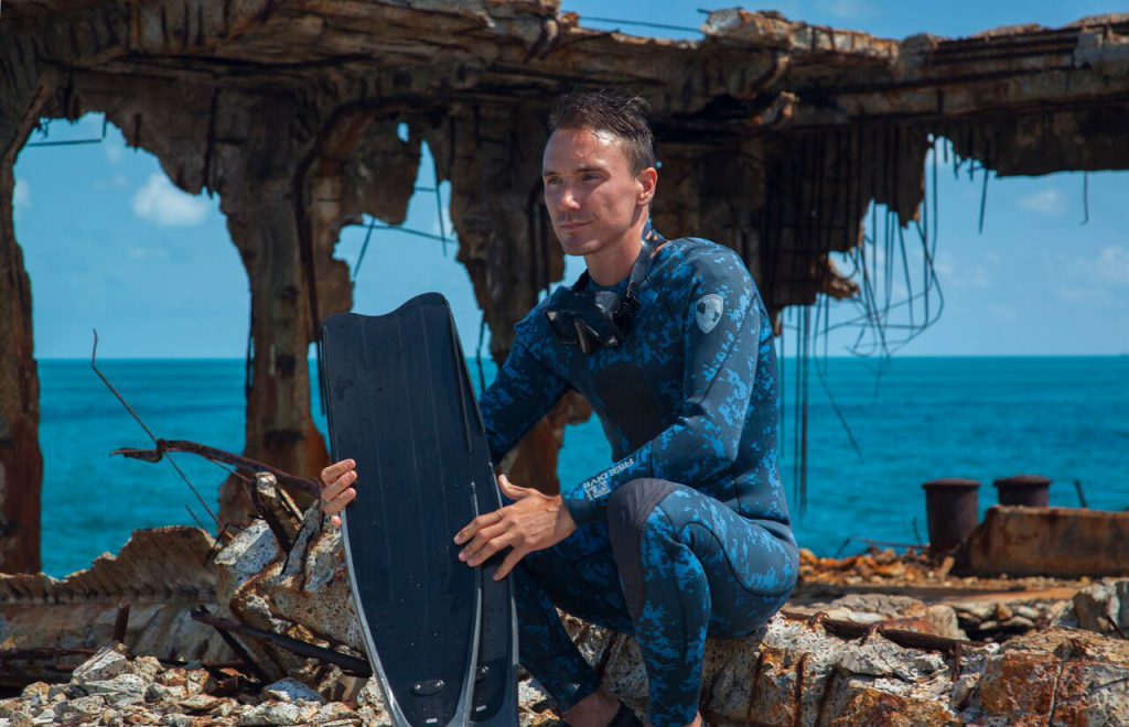 Rob Stewart during filming of Sharkwater Extinction
